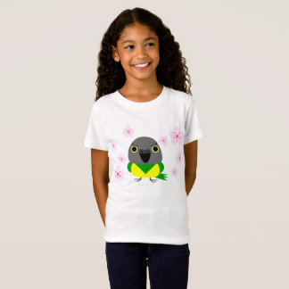 Senegal Parrot with cherry blossoms sakura T-shirt
