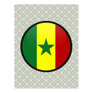Senegal quality Flag Circle Postcard