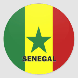 Senegal Roundel quality Flag Round Sticker