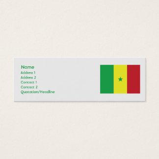 Senegal - Skinny Mini Business Card