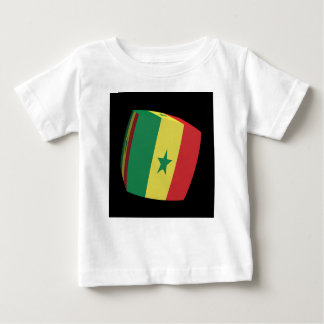 Senegalese flag cubed baby T-Shirt