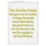 Senility Prayer Card