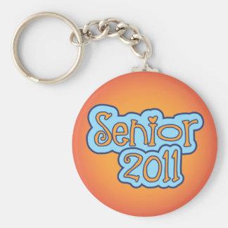 Senior 2011 basic round button keychain