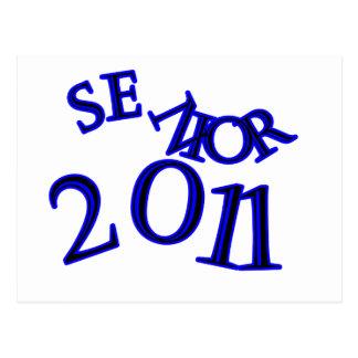 Senior 2011 Blue Postcard