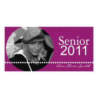 Senior 2011 Personalized Announcement Photocard Customized Photo Card