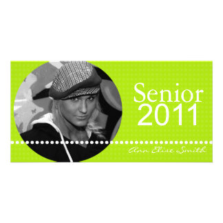 Senior 2011 Personalized Announcement Photocard Photo Card Template