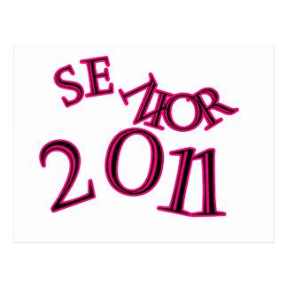 Senior 2011 Pink Postcard