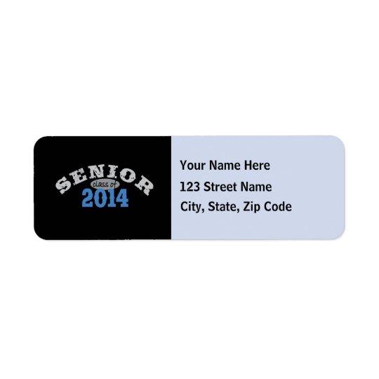Senior 2014 Blue Return Address Label