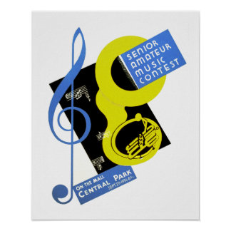 Senior Amateur Music Contest Poster