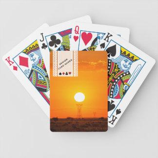 Senior Card Games Sunset Landscape