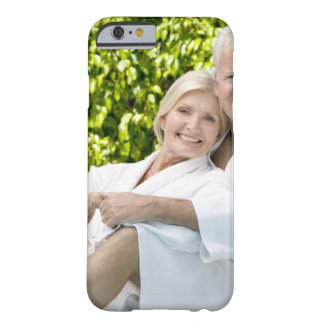 Senior Caucasian couple in robes in spa. Barely There iPhone 6 Case