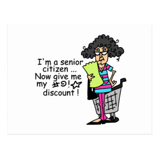 Senior Citizen Discount Postcard