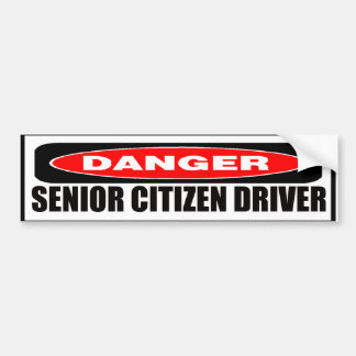 Senior Citizen Driver Bumper Sticker