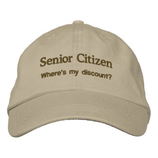 Senior Citizen Embroidered Hat