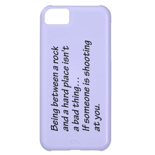 Senior Citizens - Between a rock and a hard place Case For iPhone 5C