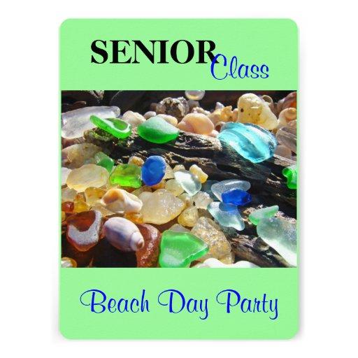 Senior Class Beach Day Party Invitations Grads