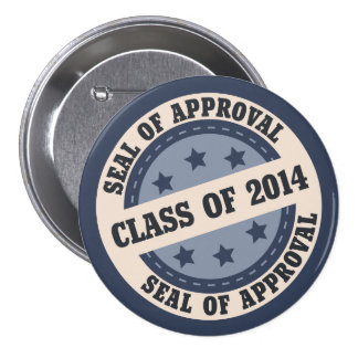 Senior Class of 2014 Badge 3 Inch Round Button