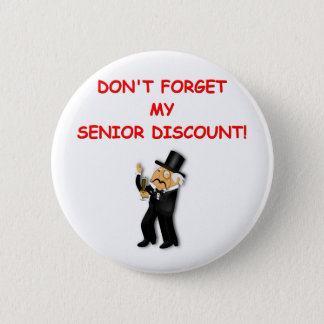 senior discount 2 inch round button