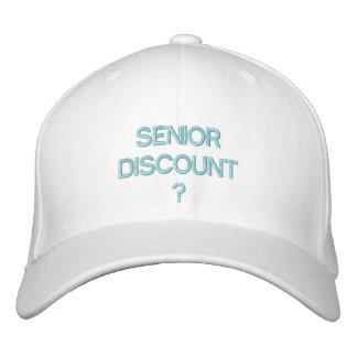 SENIOR DISCOUNT - Baseball Cap by eZaZZleMan