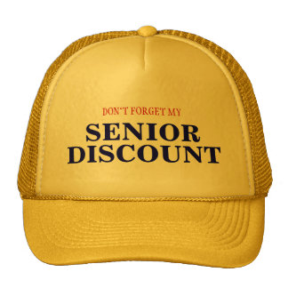 SENIOR DISCOUNT HATS