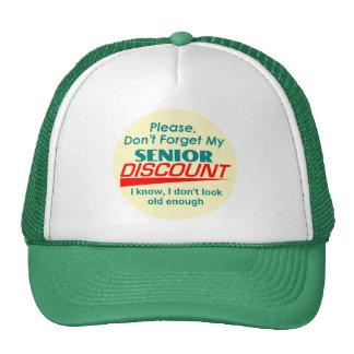 SENIOR DISCOUNT Hat