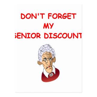 senior discount post card