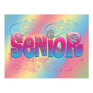 Senior - Flowers 2 Postcard
