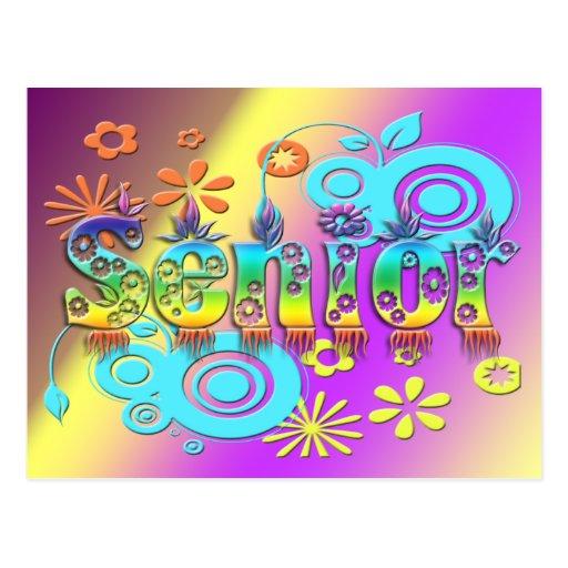 Senior - Flowers Post Cards