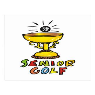Senior Golf Trophy Postcard