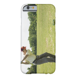 Senior golfer hitting practice balls at a range barely there iPhone 6 case