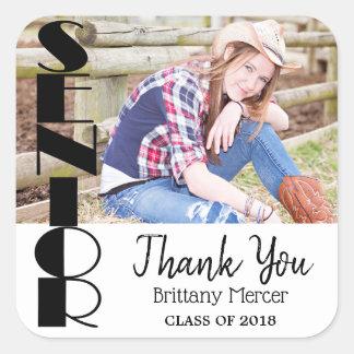 Senior Graduate - Thank You Square Sticker