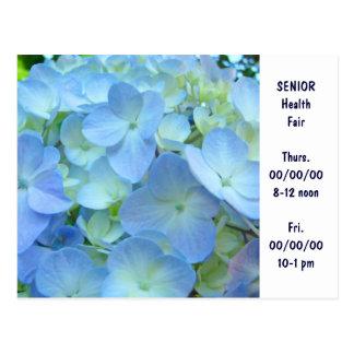 SENIOR Health Fair Invitation Cards custom Blue Post Cards