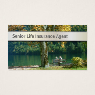 Senior Life Insurance Agent Business Card