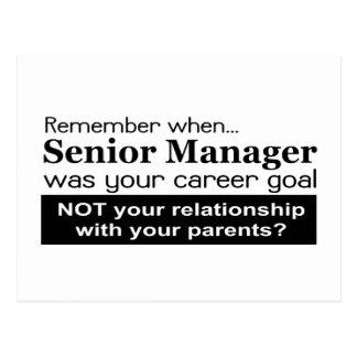 Senior Management Career Goal Post Card