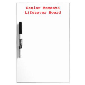 SENIOR MOMENTS LIFESAVER Old Folks Memory Dry Erase Board
