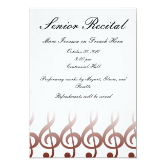 Senior Music Recital Card