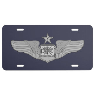 SENIOR NAVIGATOR WINGS LICENSE PLATE