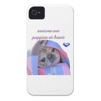 senior pug iPhone 4 case