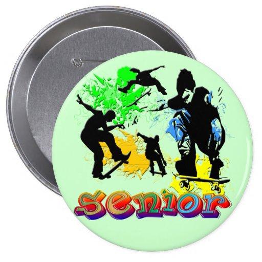 Senior - Skateboarding Buttons