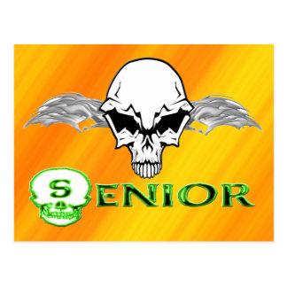 Senior - Skull Wings Postcard