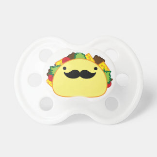 Senior taco with mustache ninny pacifier