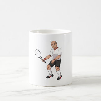 Senior Tennis Player Coffee Mug