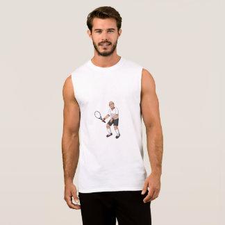 Senior Tennis Player Sleeveless Shirt