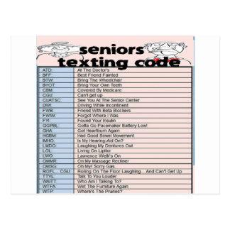 Senior Texting Code Postcard