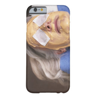Senior woman having spa treament barely there iPhone 6 case