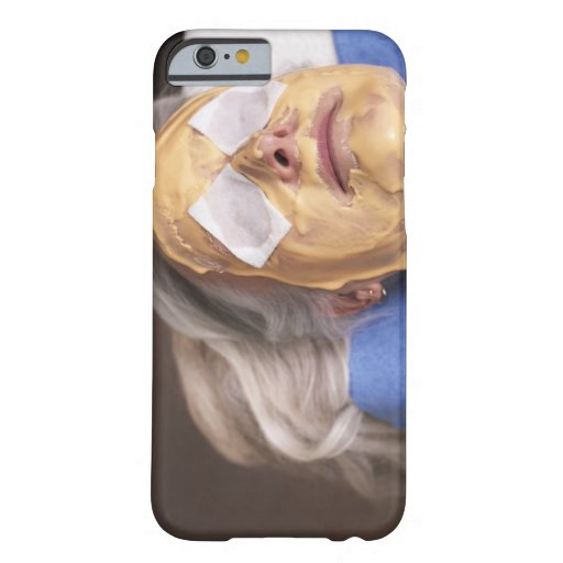 Senior woman having spa treament iPhone 6 case