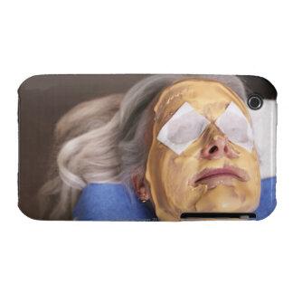 Senior woman having spa treament iPhone 3 Case-Mate case