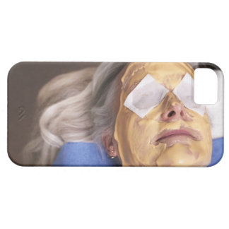 Senior woman having spa treament iPhone 5 cover