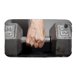 Senior woman lifting weights iPhone 3 Case-Mate cases