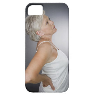 Senior woman with backache iPhone 5 cover